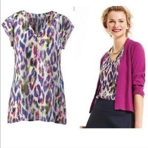 Cabi Plume Feather Print Blouse | Like New! H19-92
